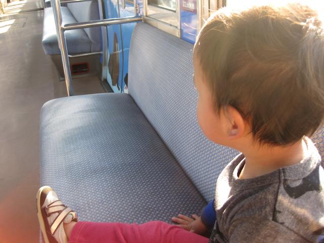 コラム1「電車に乗って旅行気分!!」
